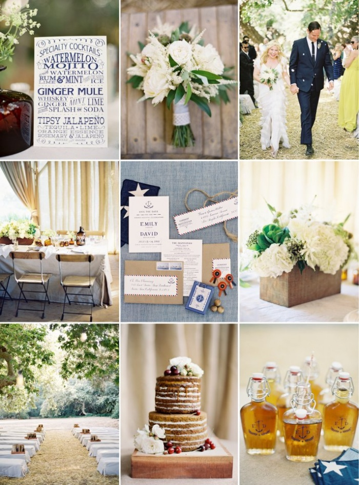 Navy ivory wedding